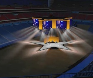 RodeoHouston star-shaped stage rendering
