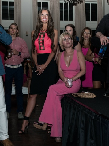 Tiffany Wilkey, Sally Evans, pink party