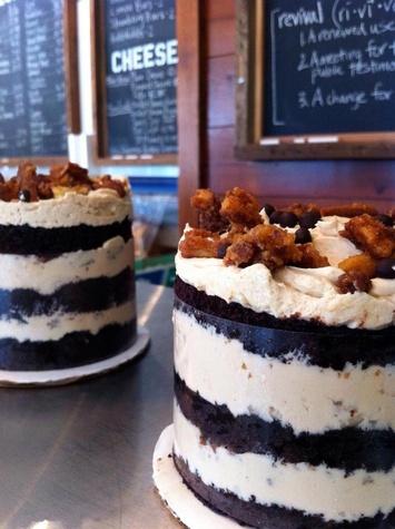 Fluff Bake Bar Rebecca Masson Revival Market Veruca Salt cakes