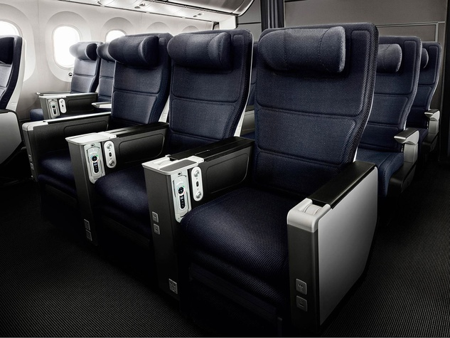 British Airways 787 dreamliner World Traveler Plus seating