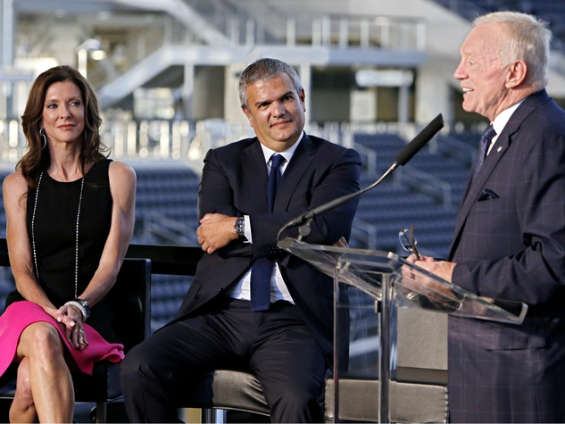 Charlotte Jones Anderson, Ricardo Guadalupe, Jerry Jones, hublot, watches, dallas cowboys