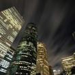 downtown Houston skyline at night