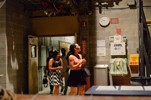 31 The scene shop at the Alley Theatre Young Professional Event - Dracula October 2014