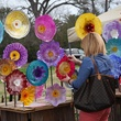 4 Ecofab Arts glass flowers at Evelyn's Park Pop-Up event in the Park February 2014