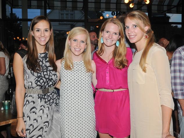24 Coppa Osteria party September 2013 Meagan Wisniewski, Katherine Verity, Jessica Messier, Kira Lange