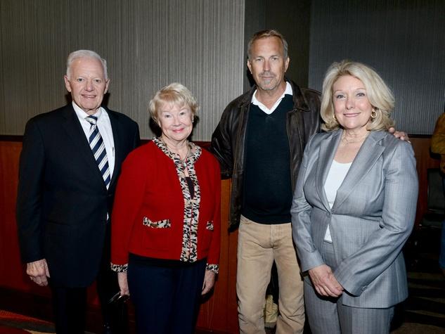 Ray Hunt, Nancy Ann Hunt, Kevin Costner, Jeanne Johnson Phillips, WINGS luncheon