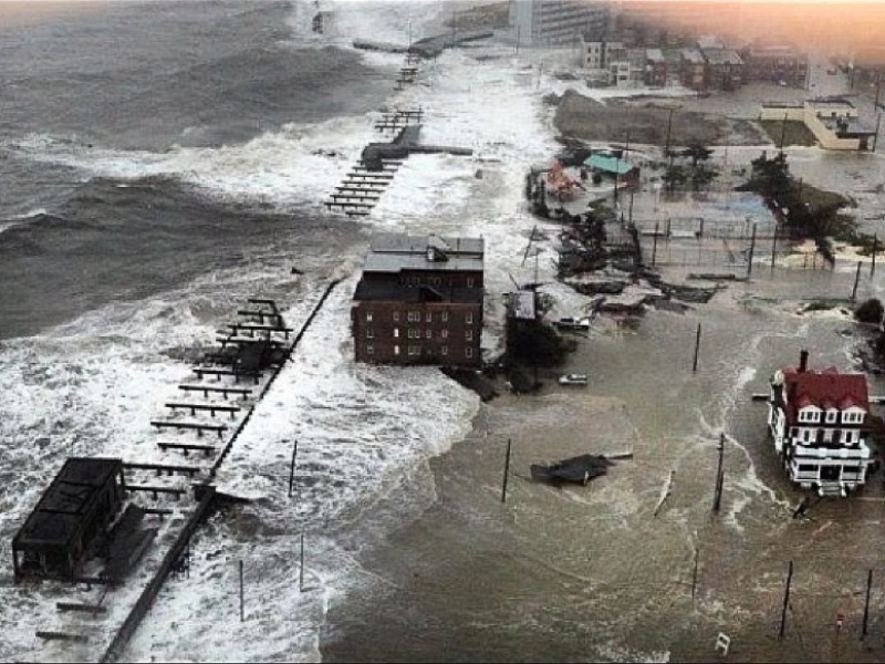 Hurricane Sandy, Atlantic City, flooding, October 2012