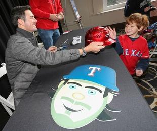 Cole Hamels at Texas Rangers Fan Fest
