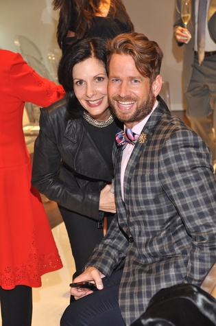 Jeanne Ruberti and Jeff Shell at the Pamella Roland runway show at Elizabeth Anthony November 2014