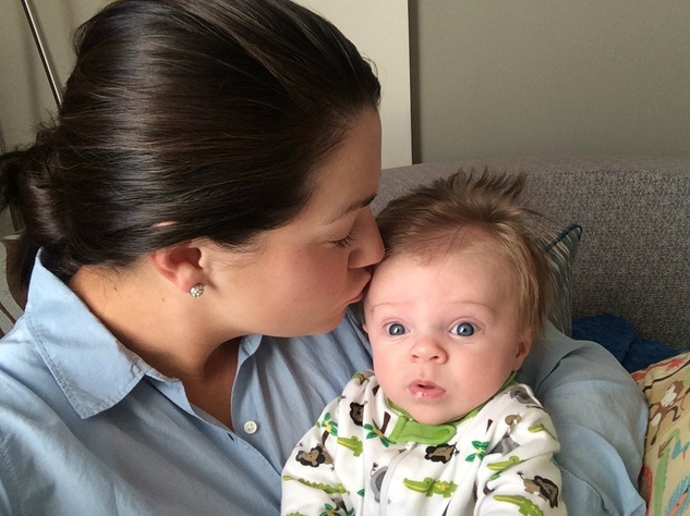 Claire St. Amant and baby
