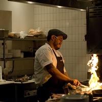 2 Dish Society tasting chef at stove January 2014