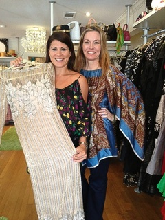 Ali Kahn, left, and Tina Davis, right at Cheeky Vintage