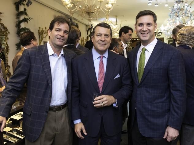 16 Larry Elliott, from left, David Dunlap and Westy Ballard at the Valobra party December 2014