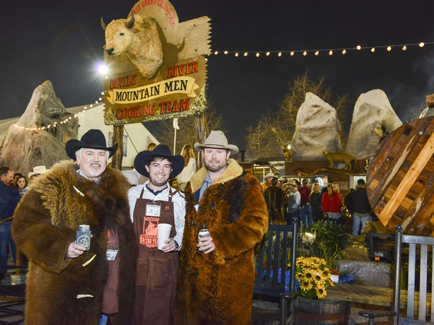 19 Mark Rothwell, from left, J.R. Imber and Scott Rothwell at the Houston Rodeo barbecue cook-off February 2014