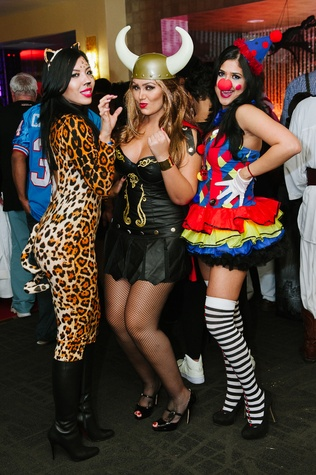 20 Cynthia Suarez, from left, Jessica Diraldo and Anna Guerrero at the CultureMap Halloween party at Mr. Peeples October 2013