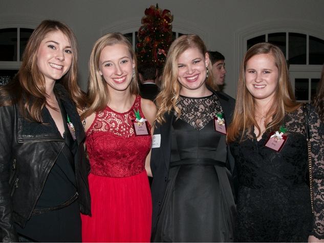 Lauren Allday, Rachel Buddrus, Virginia Bentley, and Mattie Berry, january deb parties