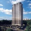 Belfiore luxury condominium Gallery area rendering tower