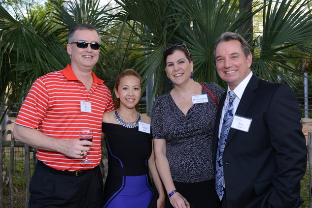 21 Ed Price, from left, Demi Rand, Marie-Claire Abelanet and Ron Rand at the Houston Zoo Asante Society dinner April 2014
