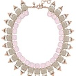 Crystal spike necklace-Jcrew