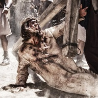 Son of God Diego Morgado as Jesus falling with cross