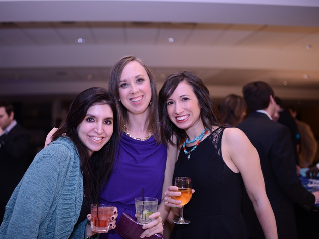 1716 Julianne Levine, from left, Sarah Weingarden and Andrea Starkschall at the Jewish Federation Young Adult Casino Night February 2014