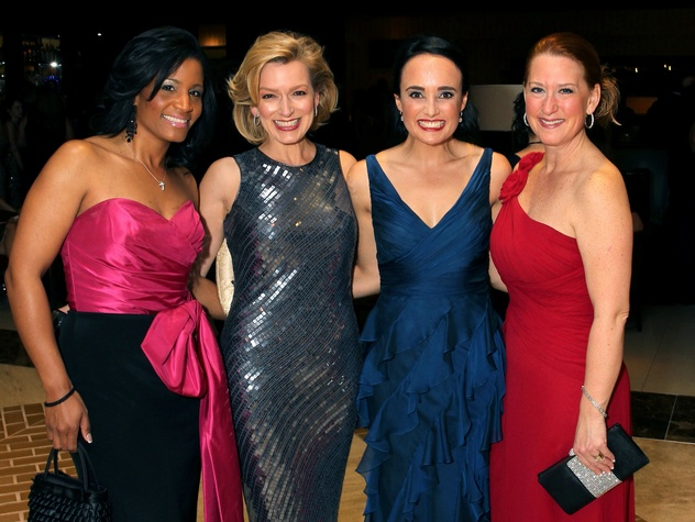 Noelle LeVeaux, Kate Rose Marquez, Joanna Clarke, and Gillian Breidenbach, jld ball 2014