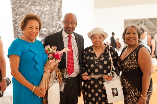 255 Drucie Chase, from left, Peter Thornton, Hazel Biggers and Cheryl Elliott Thornton at For the Sake of Art June 2014
