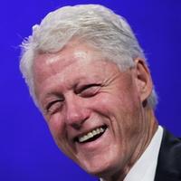 Bill Clinton head shot thin vegan