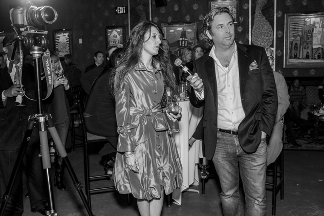 1 Designer Shevon with Jared Lang at the Beat the Holiday Blues event December 2014