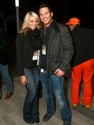 Brooke Parker, Chet Kuhn, hunger games catching fire premiere viewing party