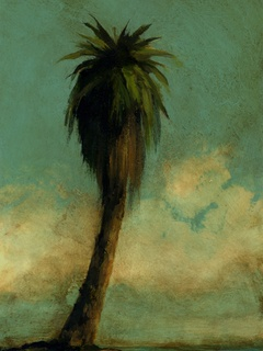 Mickey Mayfield painting of palm tree