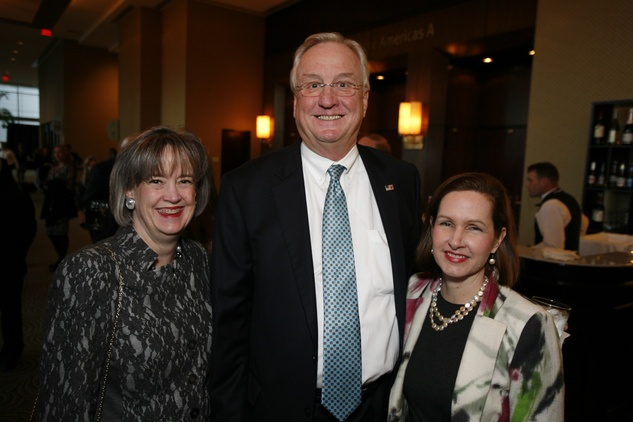 6 Dorothy Ables, from left, Mickey Ables and Kathryn Wilson at An Evening with a Legend February 2015