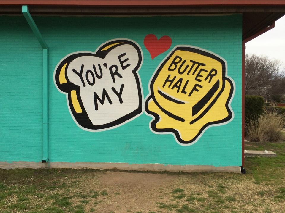 Street Art of Love and Heartbreak in Austin 8