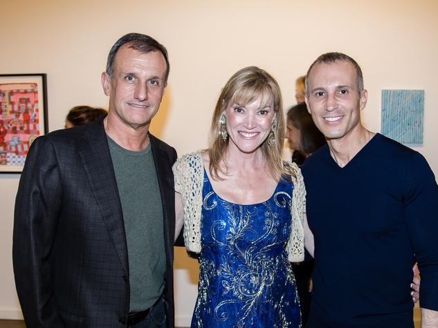 Lucilo Pena, Terri Provencal, Faisal Halum, Dallas Art Fair Preview Gala