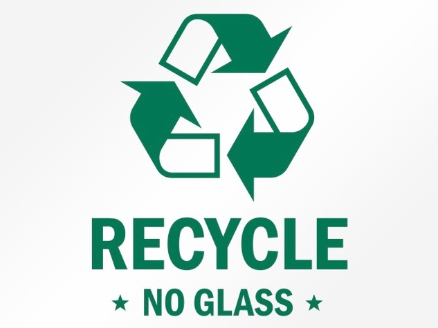 Recycle no glass sign