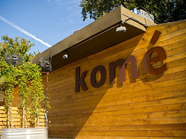 exterior of Kome Austin sushi bar