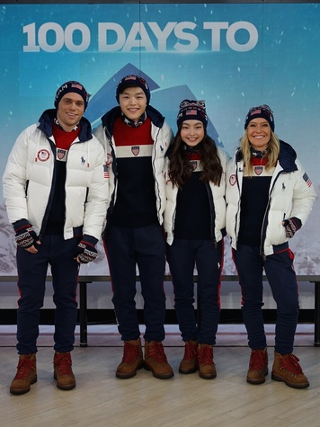 Unveiling of Ralph Lauren Team USA Winter Olympics closing ceremony uniforms