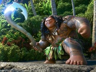 Maui (Dwayne Johnson) in Moana