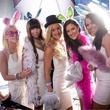Katherine Mangum, Claire Morgan, Callie Ford, Sara Newell, Clarissa Cardenas, white party