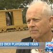 Houston Heights Donovan Park Paul Carr playground train January 2014