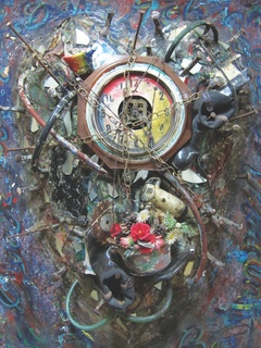 Mixed Media Assemblages and Paintings