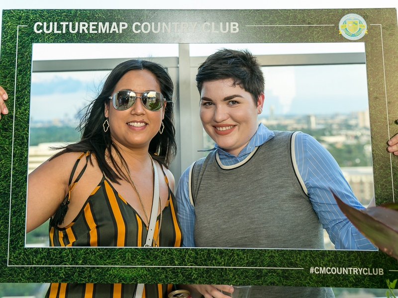 Amanda Glidewell, Samantha Hollis at CultureMap Country Club Social