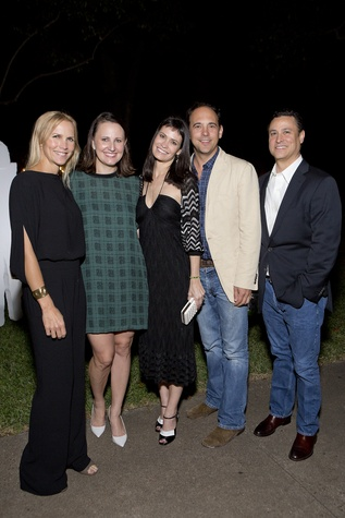 Heather Houston, from left, Kate Stuckenberg, Francine Ballard, David Houston and Glen Gonzalez at the Rothko Chapel Moonrise Party October 2014