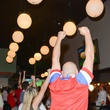 Cheering crowd at the World Cup Watch Party with Dynamo players at Local Pour June 2014