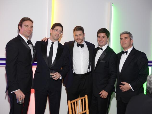 Alex Sonnenberg, from left, Brad Radoff, Dan Zimmerman, John Pearson and Salim Zakhem at Men of Menil March 2014