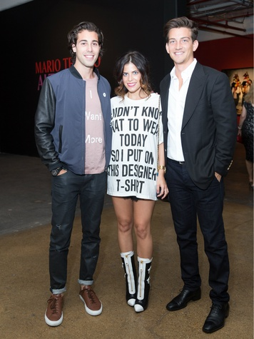 Dylan Elchami, Leigh Anne Sinacola, Zachary Shumway, Testino Opening DC
