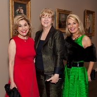 19 Sharyn Weaver, from left, Leslie Blanton and Lisa Mears at the MFAH Impressionism dinner December 2013