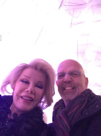 Joan Rivers Clifford Pugh at fashion week February 2014