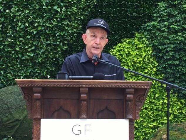 Houston, Gallery Furniture Grand Parkway Opening, June 2015, Jim McIngvale speaking