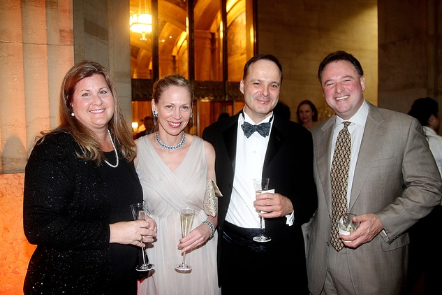 Suzy Hirshberg, from left, Julie Fette and Luc Messier and Al Hirshberg at the Da Camera Gala April 2014